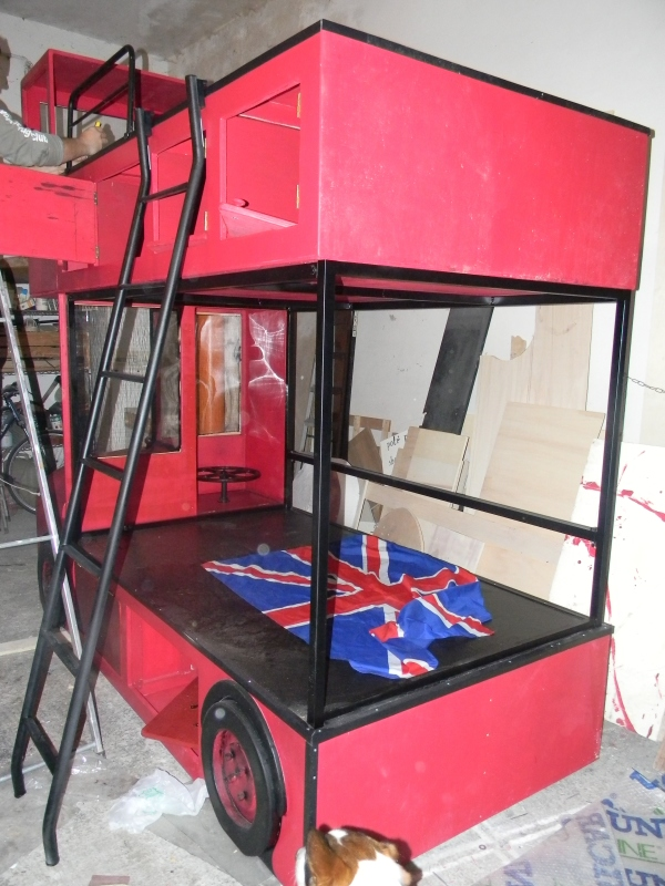 Letto a castello bus inglese the props maker - Letto a castello inglese ...